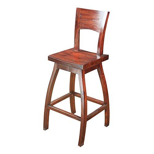 Sterling 6500822 Napa Wood Bar Stool, 45-Inch, Mahogany Stain - Brown Napa Napa Wood