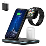 Wireless Charger, 3 in 1 Qi-Certified 15W Fast Charging Station for Apple iWatch Series 6/5/4/3/2/1,AirPods,Wireless…