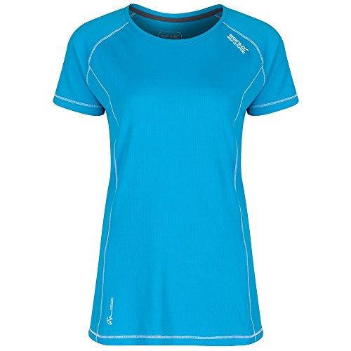 Regatta Virda Camiseta, Mujer Fluro Blue