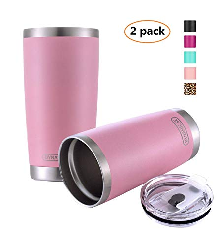 2 Pack DYNAMIC SE 20oz Tumbler Double Wall Stainless Steel Vacuum Insulated Travel Mug with Splash-Proof Lid oof Lid