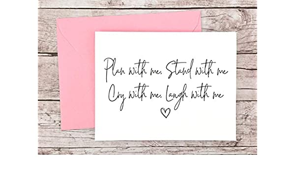 FPS0061 Choose your Envelope Color Bridesmaid Proposal Card Plan With Me Stand With Me Bridesmaid Card