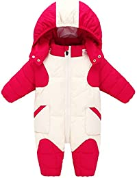09113b0f34733 Baby Girl and Boy Snowsuit Duck Down Jacket Kids Snow Wear Hooded Puffer  Jumpsuit Winter Warm