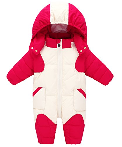 Girl Puffer Boy Duck GainKee Baby Jacket Snowsuit Snowsuit and Winter Jumpsuit Romper Snow Baby Hooded Warm Wear Down Kids Red gttw75