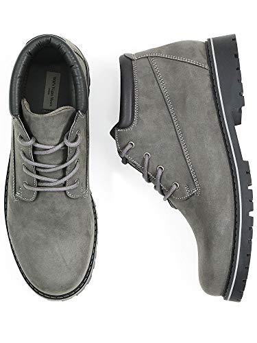 Will's Vegan Shoes Mens Low Dock Boots-UK 9 / EU 43 / US 10 Grey Vegan Suede