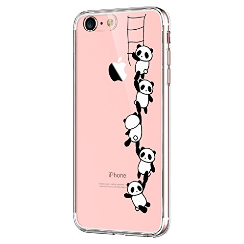 IPhone 7 Case,Flyeri Crystal Panda Fashion Flowers marble Transparent Clear Soft silicone TPU Ultra thin Phone cover back cases For apple iPhone 7 (6)