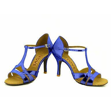 baile Negro de Salsa Plata Personalizado Azul Oro Latino pink Tacón Zapatos Rojo Personalizables lilac 6Uw5q6g