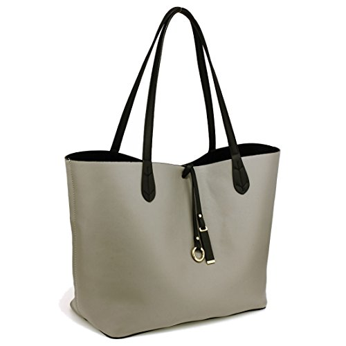 SAVE 50 Tote Large Grey 4'' Reversible UK 15 Gorgeous Fits up to Bag FREE Black DELIVERY laptops qapItnRwZx