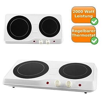 Infrarrojos de doble placa de cocina (18,9 + 16,4 cm de diámetro para todo tipo de sartenes y ollas Adecuado: Amazon.es: Hogar