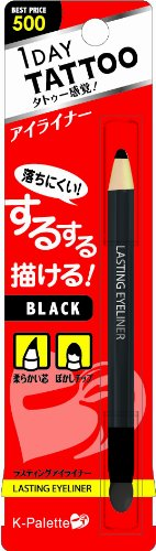 K-Palette 1 Day Tattoo Lasting Eyeliner 01 Black (Pencil Type)
