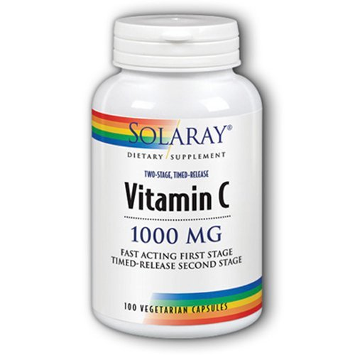 (Solaray Vitamin C -- 1000 mg - 100 Vegetarian Capsules by Solaray)