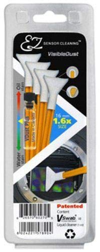 Visible Dust 1.0X Size Sensor Cleaning Kit (1ml Vdust Solution and 4 Orange Swabs) by VisibleDust