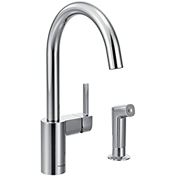 Moen Align OneHandle High Arc Kitchen Faucet Chrome Touch - Moen align kitchen faucet
