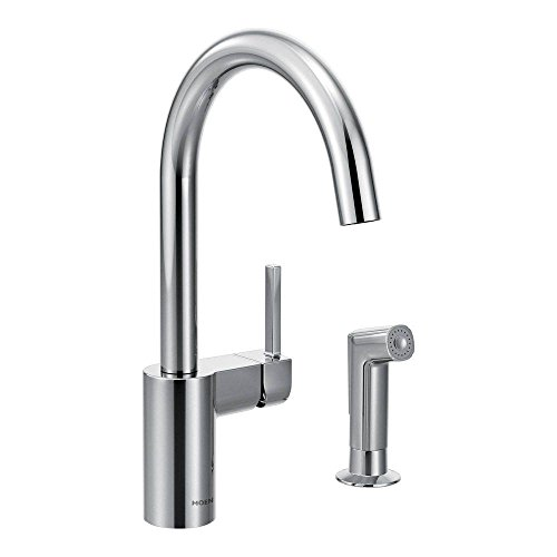 Moen 7165 Align One-Handle High-Arc Kitchen Faucet with Side Spray, Chrome