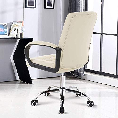 Ergonomisk Pu mellanrygg datorstol, kontorsstol konstläder svängbara skrivbordsstolar, justerbar höjd knästol