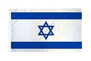 3x 5bandera de Israel poliéster 3'x5Super poliéster nailon resistente a la decoloración doble cosido Premium banderín casa bandera ojales