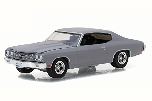 1970 Chevy Chevelle SS, Primer Grey - Greenlight 13170C - 1/64 Scale Diecast Model Toy Car