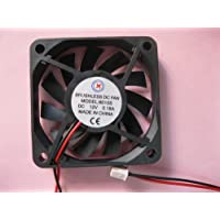 2 pcs Brushless DC Cooling Fan 12V 6010S 11 Blades 2 wire 60x60x10mm Sleeve-bearing Skywalking