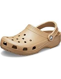 Classic Clog   Water Comfortable Slip on Shoes, Khaki, 6 Women/4 Men