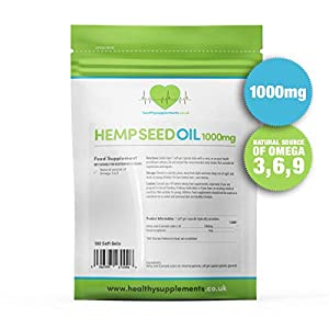 Healthy Supplements Hemp Seed Oil High Strength 10...