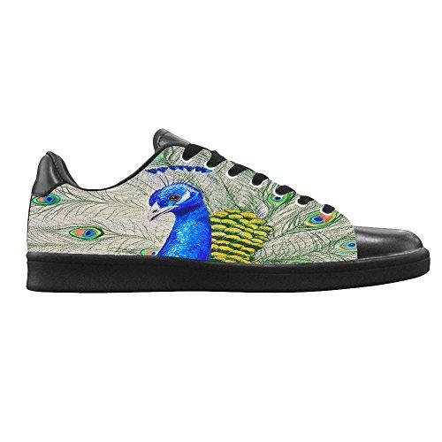 Dalliy sch?ne pfau Womens Canvas shoes Schuhe Lace-up High-top Footwear Sneakers A