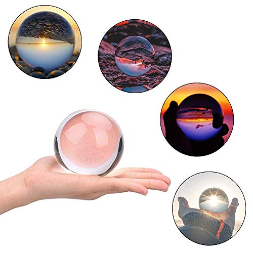 JIHUI Crystal Ball Photography Lensball, K9 Crystal Ball Clear 3-1/5'' (80mm) with Crystal Stand and Pouch for Decorative Photography Prop by JIHUI (Image #3)