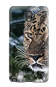 Premium Galaxy Note 3 Case - Protective Skin - High Quality For A Snow Leopard On The Nose And Mouth