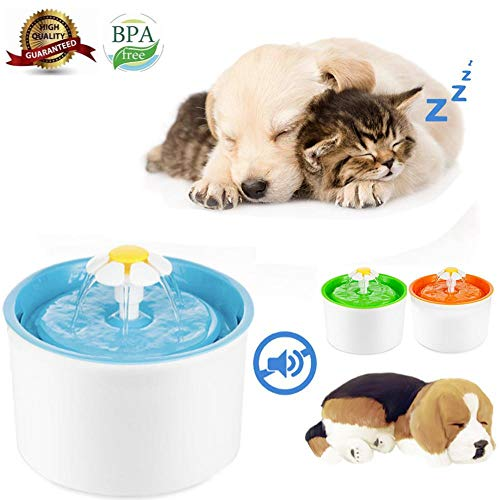 Pet Fountain Automatic Cat Dog Water Dispenser, 2.5 L Quiet Healthy and Hygienic Triple Filtering Drinking Fountains Electric Water Feeder, Suit for Cats Dogs Birds and Small Animals