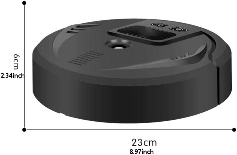 SMX Robot Nettoyeur Automatique, Aspirateur Balayer, Intelligent Spray Cleaner Humidifying, Aspirateur Intelligent, Smart Auto Balayer Robot (Color : Black) Black