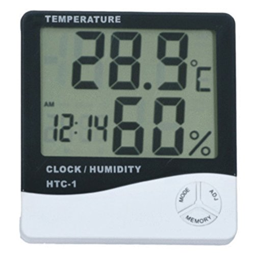 Thermometer Indoor Digital LCD Hygrometer Temperature Humidity Meter Alarm Cloc by Unknown