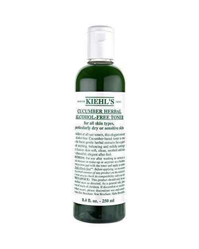 Ki'e'hl's Cucumber Herbal All Skin Types Alcohol-Free Toner, 8.4 OZ