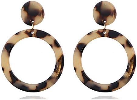 Yanxyad 2 Pairs Fashion Hoop Earrings for Women Girls