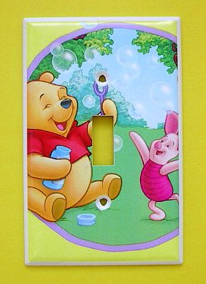 Pooh Switchplate (Winnie the Pooh PIGLET POOH Single Switch Plate switchplate #1)