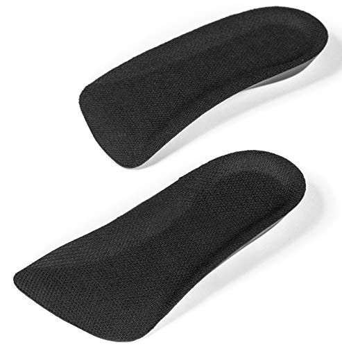 CALTO Half Elevator Insole for Men - 1/2 Inch Height Increase Taller Heel Lift Insert (2 Pack) Black (The Best Shoe Inserts For Heels)