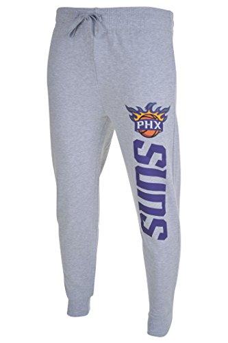 fan products of NBA Men's Phoenix Suns Jogger Pants Active Basic Soft Terry Sweatpants, Large, Gray