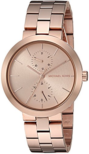 Michael Kors Women's Garner Rose-Gold Tone Watch MK6409