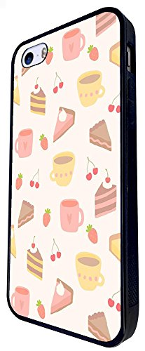 1501 - Cool Fun Trendy Cute Cupcake Sweets Take Away Junk Food Burger Cake Candy Cartoon Kawaii Collage Design iphone SE - 2016 Coque Fashion Trend Case Coque Protection Cover plastique et métal - Noi