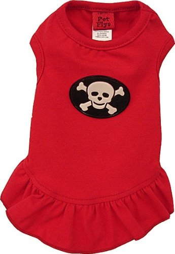 Pet Flys Happy Pirate Skull SUN DRESS, Choose a size:: LARGE (1116 lbs)