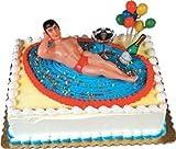 Cakesupplyshop Item#5162k- Macho Man Bikini Bachelorette Party Cake Decorating Topper Kit