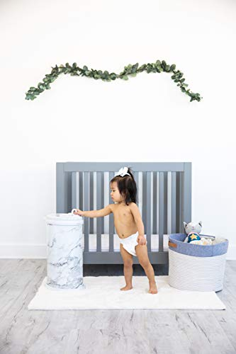 Ubbi Steel Odor Locking, No Special Bag Required Money Saving, Awards-Winning, Modern Design Registry Must-Have Diaper Pail, Marble by Ubbi (Image #4)