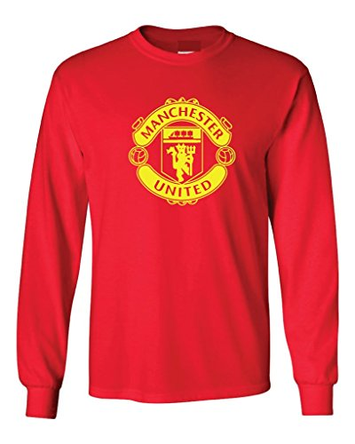 Local Imprint Men's Manchester United Long Sleeved Tee L Red