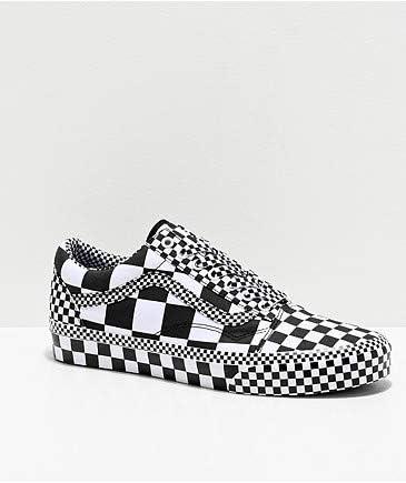 VANS バンズ ヴァンズ スニーカー シューズ 靴 メンズ All Over Checkerboard Old Skool Shoes BLACK/TRUE WHITE