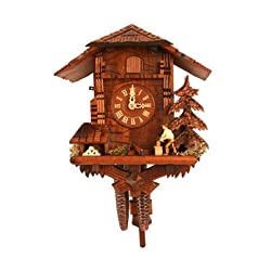 Black Forest Woodcutter 9.75 Inch Wide Cuckoo Clock