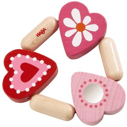 Heart Baby Rattle - HABA Mimi Clutching Toy