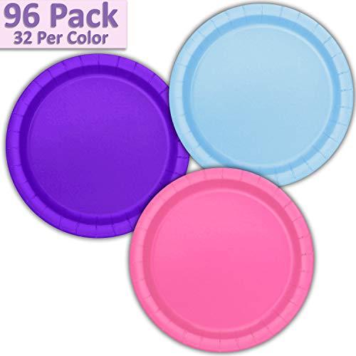 (96 Paper Dinner Plates (9