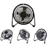 "LavoHome 4"" Mini Fan High Velocity Personal Office Fan Black Electric Table Fan Compact Design"