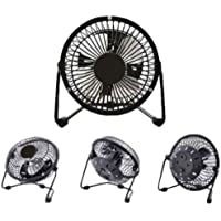 4 Inch High Velocity Desk Fan Black