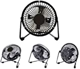 4 inch high velocity fan - LavoHome 4-inch High Velocity Personal Office Black Electric Table Fan