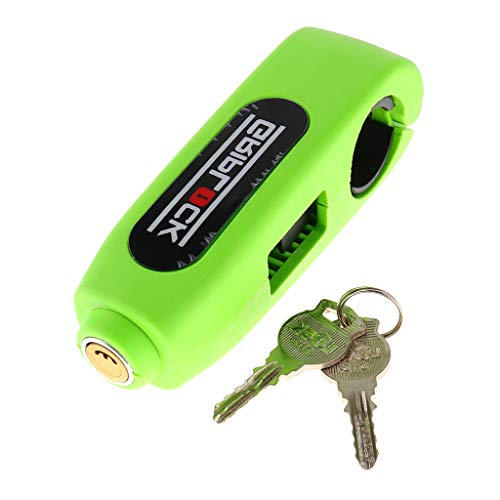 Flameer Lock Universal Bike Scooter Moped ATV Handlebar Grip Lock Grip-Lock Motorbike Handlebar Security Lock Weather-resistance - Green