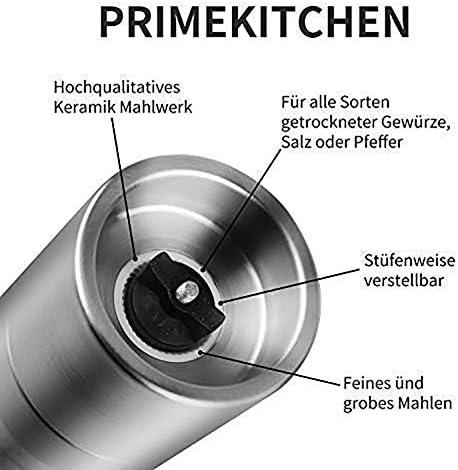 ZTING 2 in 1 Würzen Grinding Edelstahl-Handbuch Pfeffermühle Salz & Pfeffermühle Grinder Küche Werkzeuge Zubehör für das Kochen