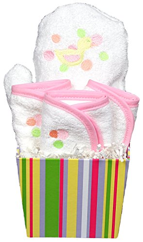 Raindrops Bubbles N' Stripes Bath Mit Set, Pink